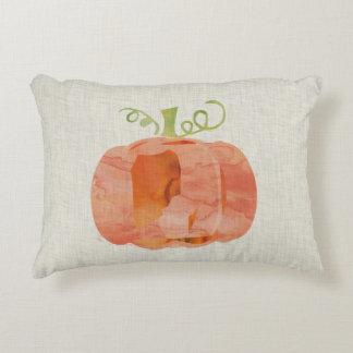 almohada de la calabaza de la acuarela