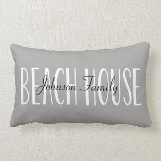 Almohada de la casa de playa personalizada con