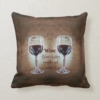 Almohada de la copa de vino