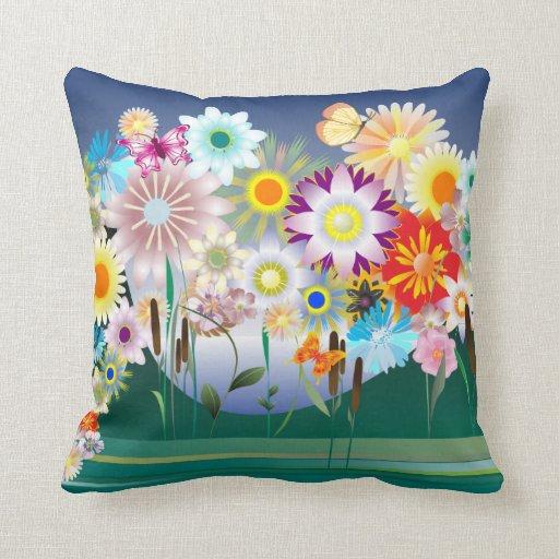 Almohada de la decoración 14 de la flor