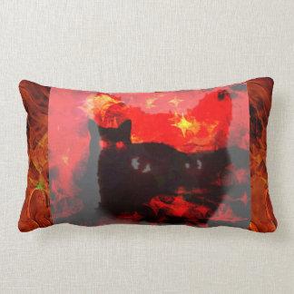 Almohada de la decoración de Halloween del gato