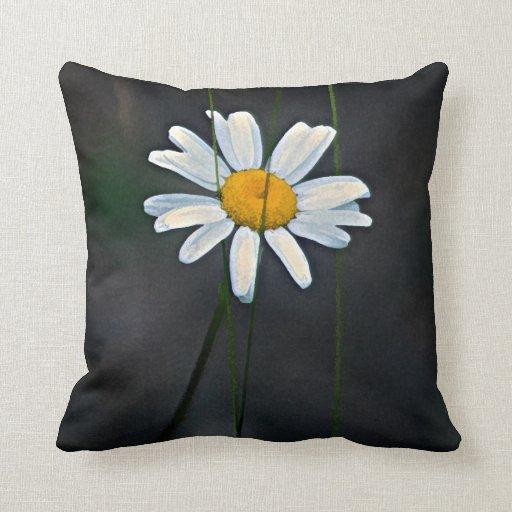 Almohada de la decoración del arte de la margarita