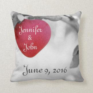 Almohada de la fecha del boda, almohada del día de