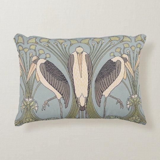 Almohada de la grúa de Nouveau del arte