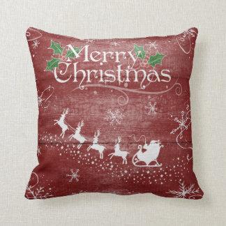 Almohada de la nieve del trineo de Papá Noel de
