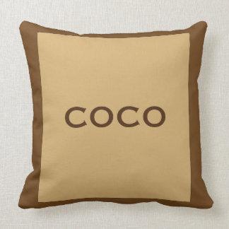 Almohada de la pacana de los Cocos