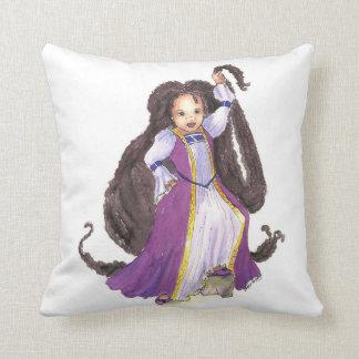 Almohada de la princesa de Rapunzel del afroameric