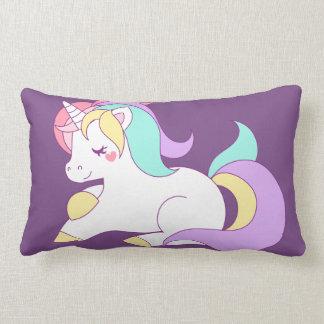 Almohada de la púrpura del unicornio