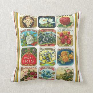 Almohada de la semilla de flor de Nouveau del arte