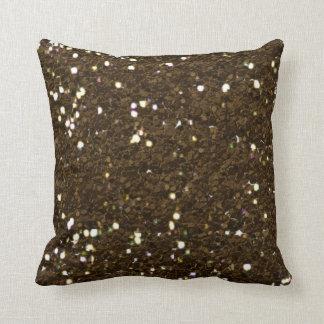 Almohada de la textura del brillo del marrón