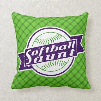 Almohada de la tía tiro del softball