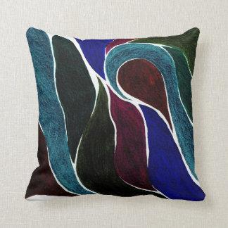 Almohada de la torsión del color (la oscuridad más