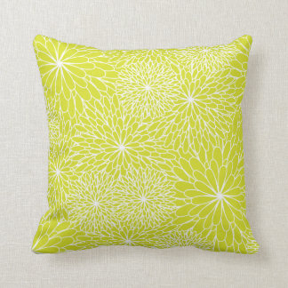 Almohada de la verde lima del crisantemo