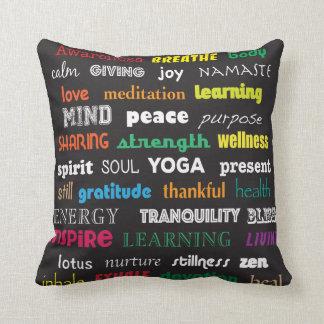 Almohada de la yoga de la inspiración