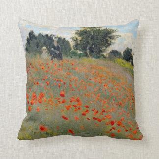 Almohada de las amapolas de Monet