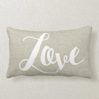 Almohada de lino del Lumbar del amor de la mirada