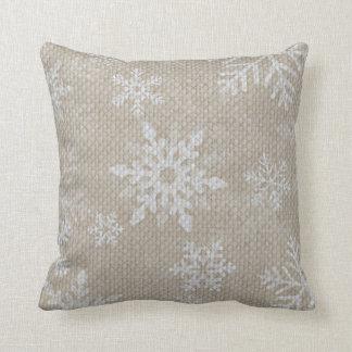 Almohada de los copos de nieve del navidad