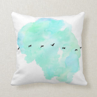 almohada de los pájaros de vuelo