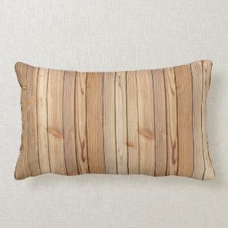 Almohada de madera ligera del Lumbar de la textura