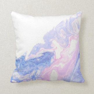 Almohada de mármol del rosa en colores pastel y de