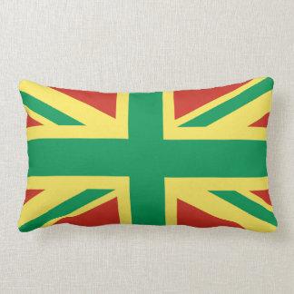 Almohada de Reino Unido de la bandera de Rasta