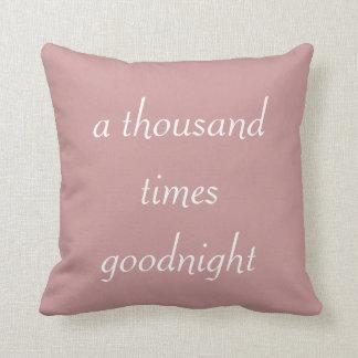 Almohada de Shakespeare de mil veces buenas noches