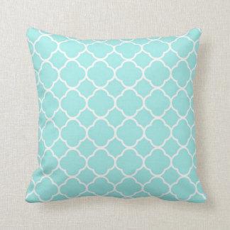 Almohada de tiro abstracta azul moderna