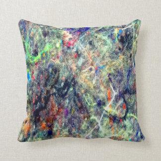 Almohada de tiro abstracta de neón de la pelusa
