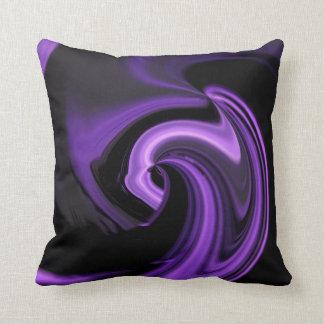 Almohada de tiro abstracta púrpura Amethyst del