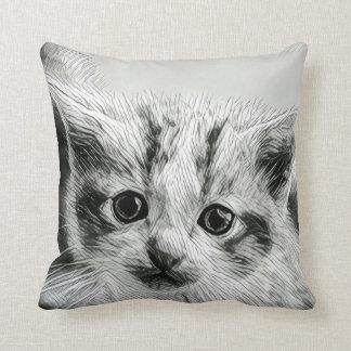 Almohada de tiro adorable de la cara del gatito