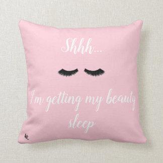 Almohada de tiro adorable del algodón de la cita