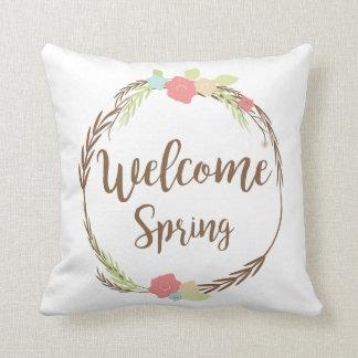 Almohada de tiro agradable de la primavera