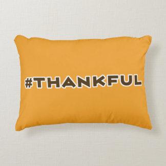 Almohada de tiro agradecida de Hashtag
