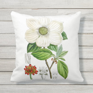 Almohada de tiro al aire libre de la flor del