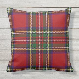 Almohada de tiro al aire libre del diseño rojo de