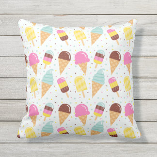 Almohada de tiro al aire libre interior del helado