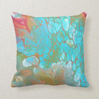 Almohada de tiro/almohada/azul y naranja de la