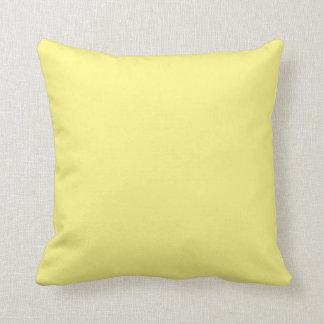 Almohada de tiro amarilla