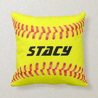 Almohada de tiro amarilla de encargo del softball