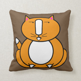 Almohada de tiro anaranjada gorda del gato del