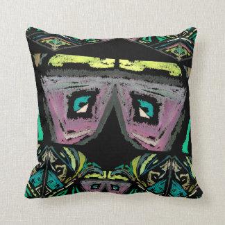 Almohada de tiro azteca del arte