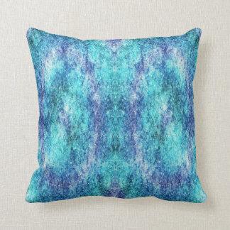 almohada de tiro azul