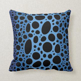 Almohada de tiro azul de la impresión de la rana