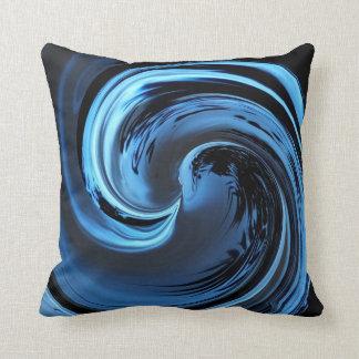 Almohada de tiro azul de la onda de la isla del