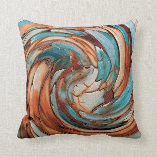 Almohada de tiro azul del arte abstracto del moho