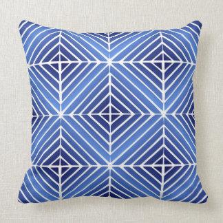Almohada de tiro azul eléctrica de la ilusión