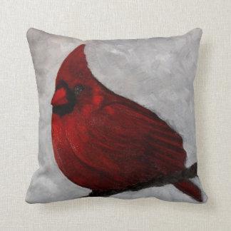 Almohada de tiro cardinal del algodón