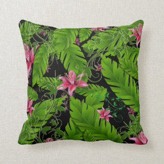 Banana Leaf Tropical Home Decor Throw Pillow