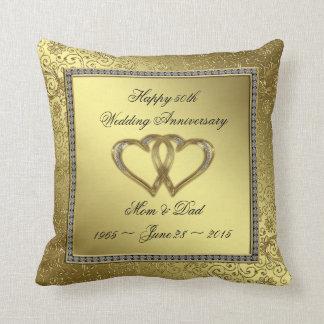 Almohada de tiro clásica del aniversario de boda