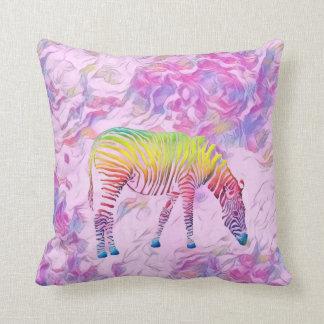almohada de tiro colorida de la cebra